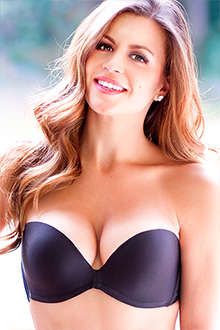 UpBra Miraculous Stay-Up Strapless Black