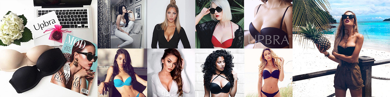 Amazing cleavage and lift in Upbra bras from women around the world